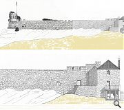 The Watch House stands alongside the battlements of Crail Castle
