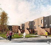 Colony-style housing and maisonettes will be arranged in blocks of six