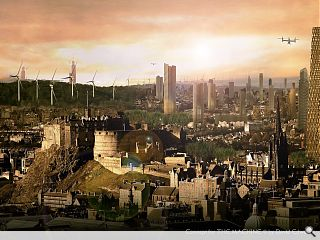 Fantasy Edinburgh skyline promotes new sci-fi flick