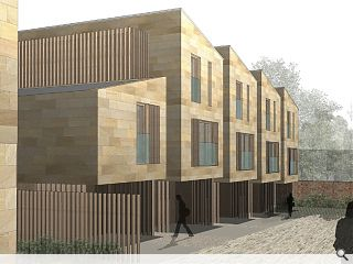 Infill stone & timber Morningside housing tabled