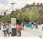Widened pavements, greenery and improved wayfinding will support footfall