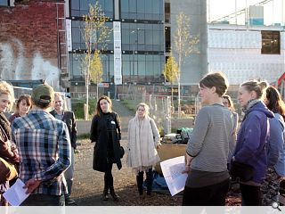 Community led design and build project gets underway at Fountainbridge