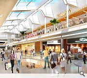 The revamped centre will include 100 shops and 25 restaurants