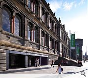 Traffic choked Chambers Street is in line for pedestrianisation in a later phase of the 15 year museum masterplan