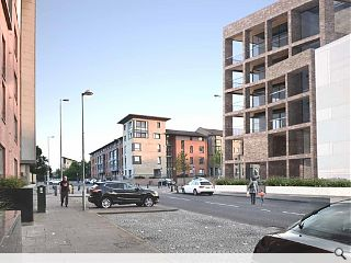 Gorbals regeneration continues apace new infill housing