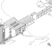 An isometric view of MacRitchie's country house for an architect