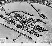 Port Edgar on the Firth of Forth was transformed into a torpedo boat destroyer base by the British admiralty in 1916