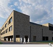 The quartet of buildings will share a common use of buff brick