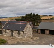 The property boasts extensive views across the Aberdeenshire countryside