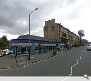An unpreposessing retail showroom has been levelled to amke way for the plans