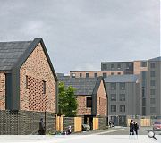 A strong urban frontage will face London Road, with lower rise housing behind