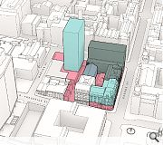 An apartment tower on John Street will soon rise