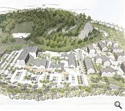 The mixed masterplan emphasises conncetions to the river and crag