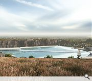 The quarry surrounds will be landscaped to form a new country park