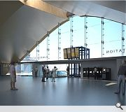 An arched concourse will echo the great Victorian train sheds