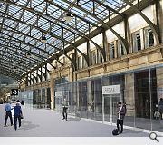 Existing retail will sit behind a new glazed frontage