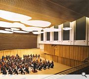 A 600 seat auditorium sits at the heart of the scheme