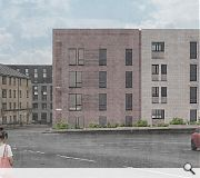 A rear 'back court' will be included above a disused railway tunnel below the site