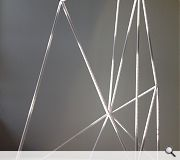 This model mock-up illustrates the versatility of scaffolding and climbing rope