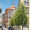 Jestico + Whiles' peeled orange wins St James Quarter hotel competition