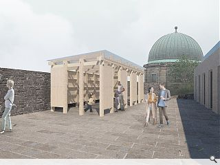 Outdoor learning space to augment Calton Hill art gallery