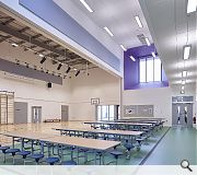The extended ceiling height of the gym allowed formation of a feature 'box'