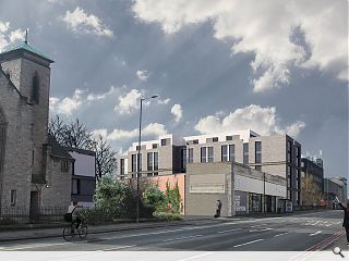 Student housing earmarked for the Water of Leith