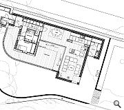 A ground floor plan of the new home