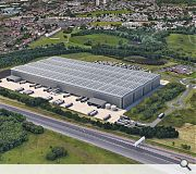 Retained woodland will partially screen the logistics hub from the M80