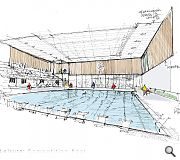 A competition grade pool will sit at the heart of the leisure hub