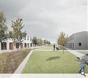 Rear lanes have been conceived as open and social mews