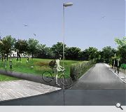 A new public park will be created as part of the development