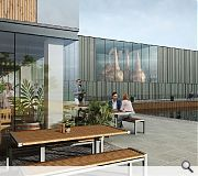 A palette of zinc and timber will be used in the construction