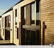 HLM's Passive Haus terrace is one of two contenders to hail from last years housing expo in Inverness