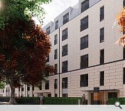 A modern tenement design will bridge the ages between north and south halves of Burnbank Gardens