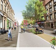 Sauchiehall Street will be transformed into a tree-lined avenue