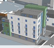 A six-storey block offers 20 one to four bed flats