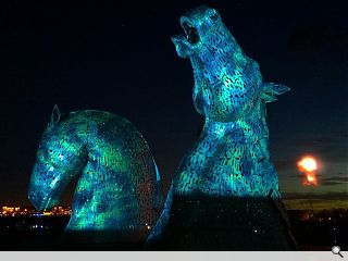 Falkirk's Kelpies debut amidst blaze of sound and light