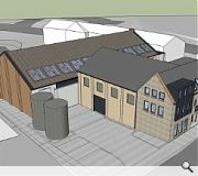 The new addition will graduate in scale from tenements to warehouse
