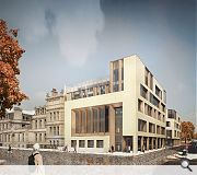 The extension would complete the university's George Square frontage