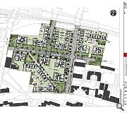 The current site plan as submitted to planning