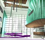 A green landscaped area will also encompass new campuses for the UHI and the Scottish Agricultural College