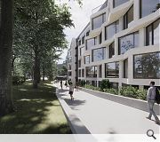 Green decks and elevated landscape spaces, as well as an on-site gym, will emphasise health and wellbeing