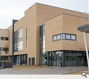 A community hall and library sit at the heart of the scheme