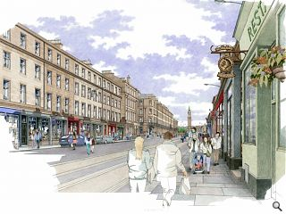 Edinburgh streetscape initiative gets underway with shop front revamp