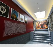 Lighting effects are used extensively to enhance the visitor experience