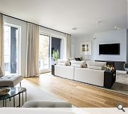 An open plan lounge created for the showhome