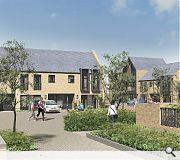 Homes will be built on a raised development platform by the river, with undervroft parking below