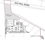 A grey stone entrance feature will address Old Mill Road