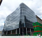 A wall of glass now rises above Ingram Street